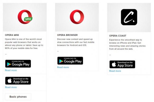 Opera Mini отныне нельзя скачать в Windows Store