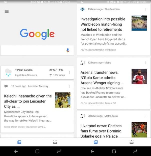 Обновление дизайна поисковой системы Google
