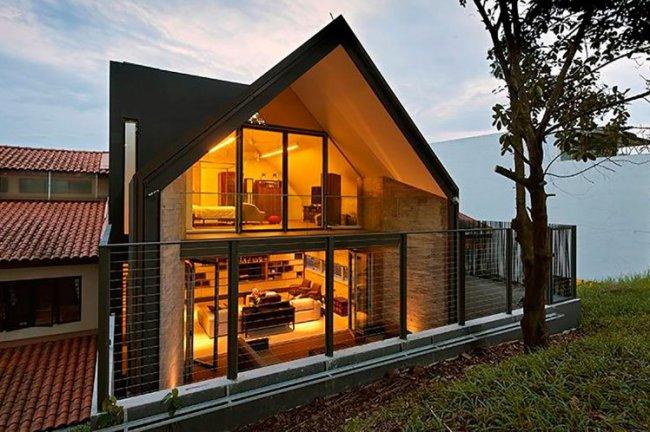 Строительство частных домов из бруса с мансардой 2